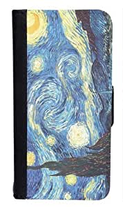 CellPowerCasesTM Vincent Van Gogh Starry Night Bi-fold iPhone 5 Case - Fits iPhone 5 & iPhone 5S