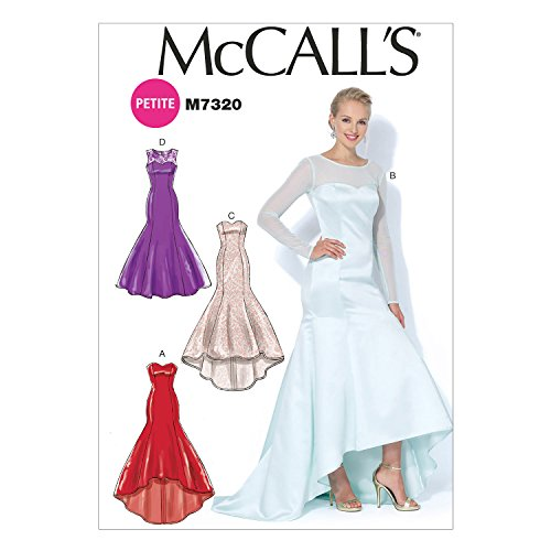 Bridesmaid Patterns Mccalls - McCall's Patterns M7320 Misses'/Miss Petite Mermaid-Hem and High-Low Dresses, Size A5 (6-8-10-12-14)