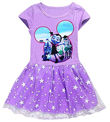 AOVCLKID Vampirina Costume Little Girls Dress up Toddler Baby Christmas Cosplay Outfit Kids Party Dress (Purple,90/1-2Y)]()
