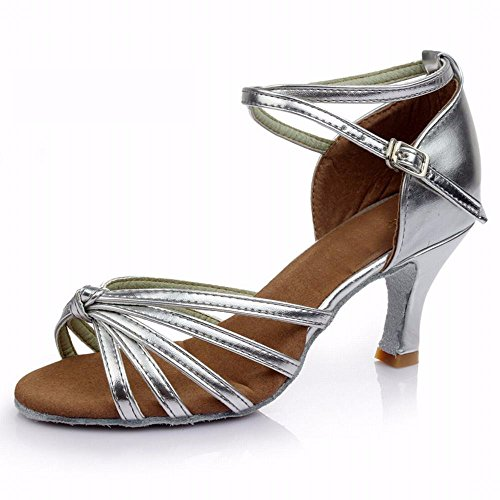 Bottom Fashion Convenient xiao123 Surface Leather Points Modern Square Light Sandals Dance Women's with Series Adult Cowboy Soft Five Five Brown Simple Dance Latin qgAw1IHg