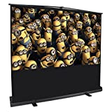 "ARKSEN Portable Freestanding Pull Up Projector Screen 80"" Inch 4:3 HD Home Theater Aluminum Case wtih Handle, Black"