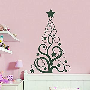 Merry Christmas Wall Decals Vinyl Decal Abstract Tree Art Sticker Home  Decor Removable Stylish Mural Unique Design For Room 192 Part 73