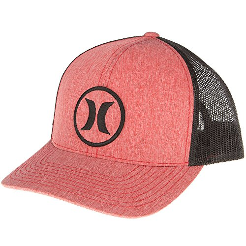 Hurley Mens Icon QT Trucker Cap OS Red Hurley Icon