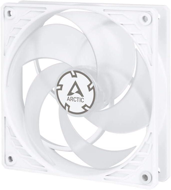ARCTIC P12 PWM PST - 120 mm Ventilador de Caja para CPU con PWM Sharing Technology (PST), Motor Muy Silencioso, Computadora, 200-1800 RPM - Blanco/Transparente