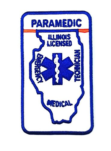 10.5 X 6 Centimeters Paramedic Illinois Licences Medical Uniform Jacket Patch (Paramedic Costume)