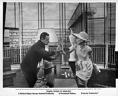 Audrey Hepburn William Holden Original 1964 8x10 Photo Paris When It Sizzles