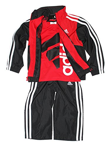 Adidas Boys 3-piece Athletic Windsuit, Bright Red, 6 ()
