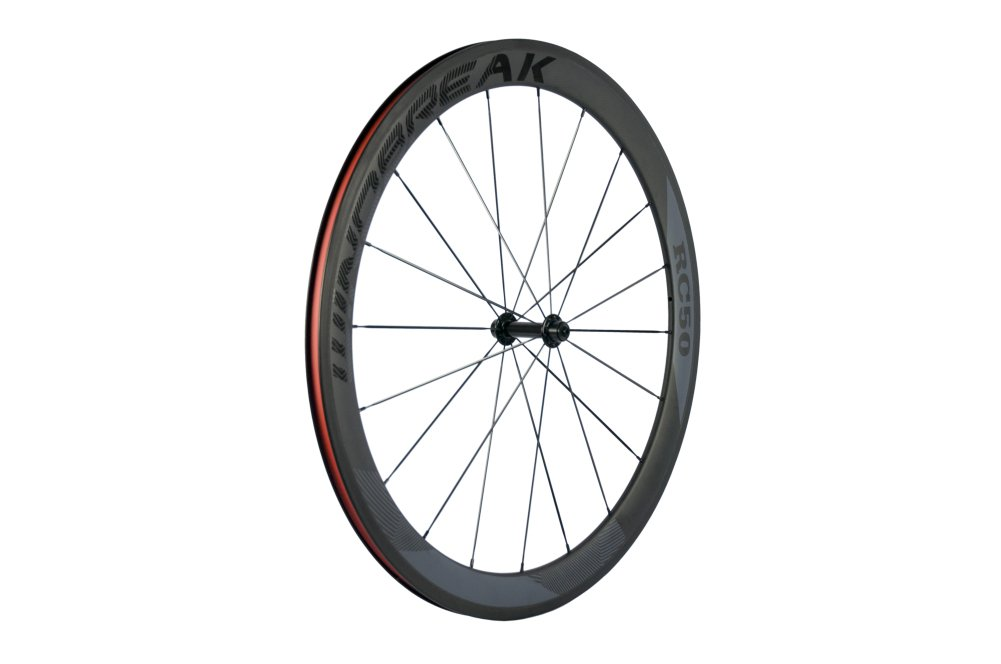 Sunrise Bike Carbon Road Wheels 700C 50mm Clincher Wheelset 3k Matte Finish with Decal by SunRise (Image #3)