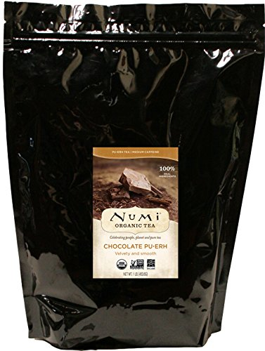 Numi Organic Tea Chocolate Pu-erh, 16 Ounce Pouch, Loose Leaf Black Tea (Packaging May Vary) ()