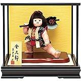 五月人形 真多呂 金太郎 ケース飾り 武者人形 真多呂作 鉞 ケース付 h315-mtk-3564-041
