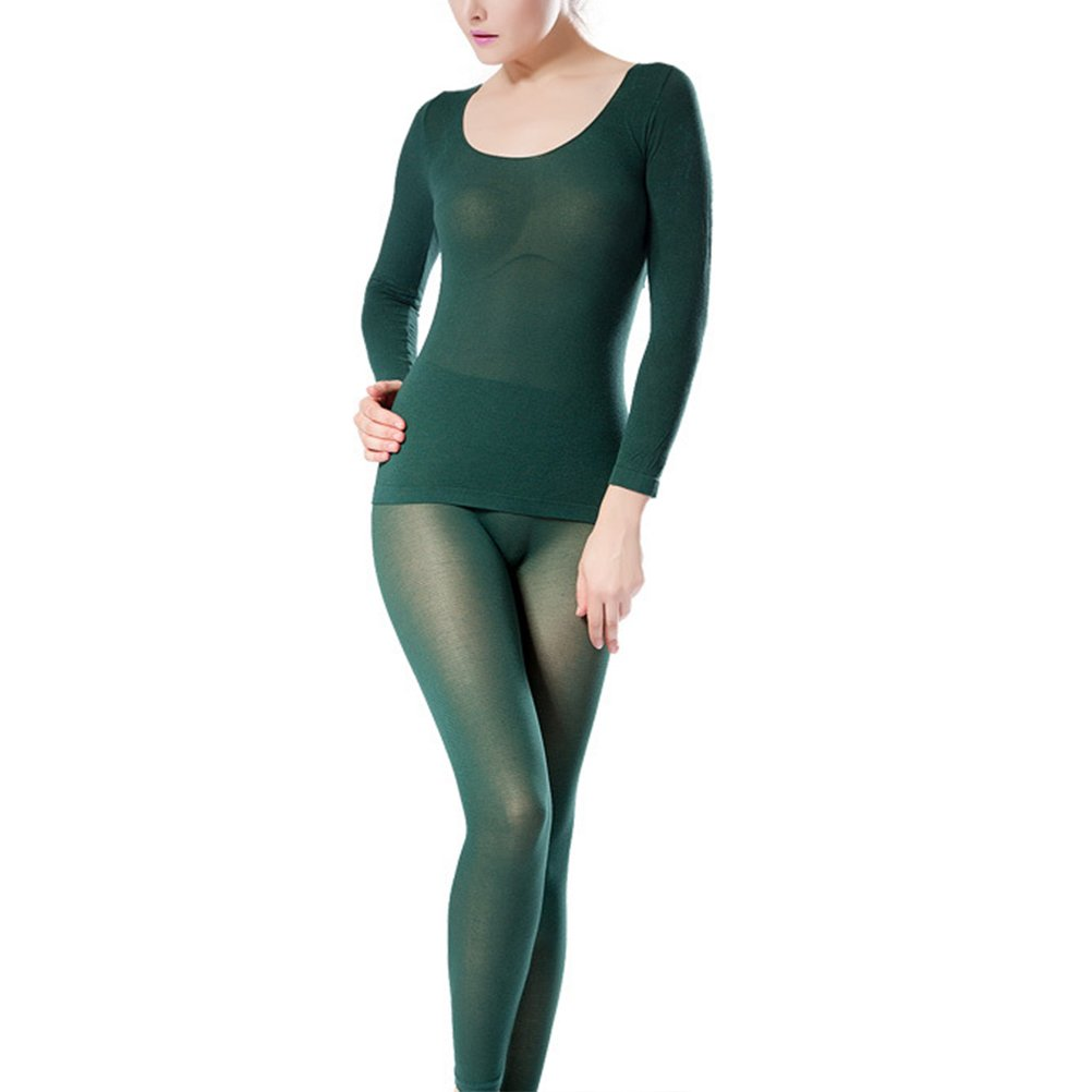 Zhhlaixing Donne Winter Warm Ultra-thin Seamless Thermal Underwear Suits Shirt and Pants