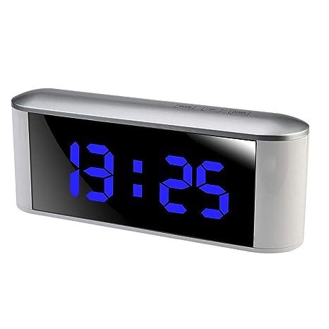 Snooze - Reloj electrónico con indicador de Alarma Digital (Funciona con Pilas)