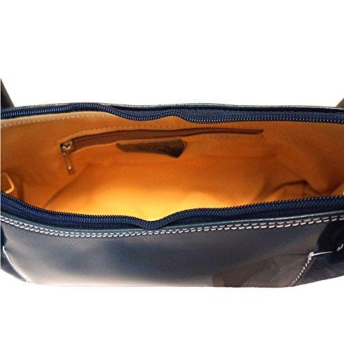 De Brillante Hombro Azul Bolso Clásico Cuero 6886 dTATIq