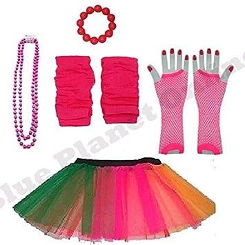 Amazon Plus Size 16 24 Neon Tutu Skirt Fishnet Gloves