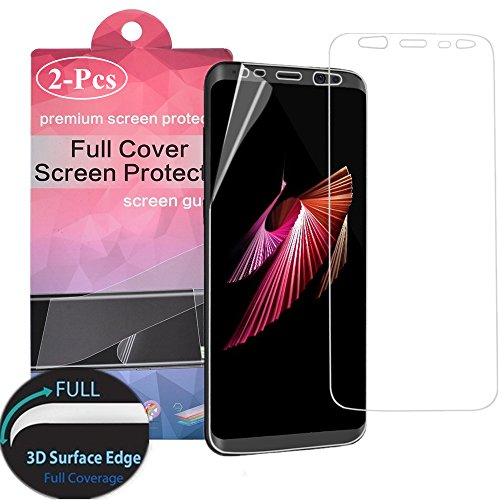 Galaxy S8 Full Cover Screen Protector [2-Pack],Antsplust Edge to Edge HD Anti-Scratch Screen Protector[Ultra-Clear] [Scratch Proof] [Anti-Fingerprint] for Samsung Galaxy S8
