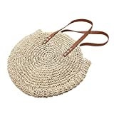 Brand New Outdoor Circular Beach Straw Braided Woven Beach Bag Dual-Purpose Travel Sling Bag Crossbody Bag