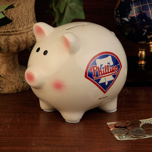 (The Memory Company MLB Philadelphia Phillies Official Team Piggy Bank, Multicolor, One)