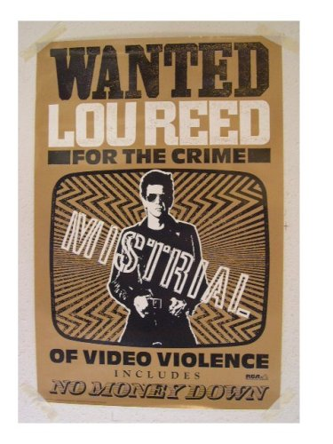 Lou Reed Wanted Poster The Velvet Underground