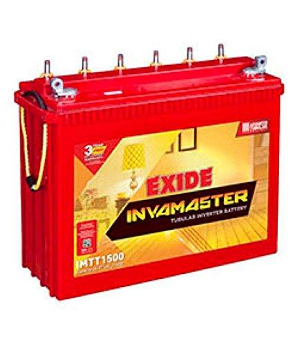 Exide Technologies Inva Master Tall IMTT1500 150Ah (Multicolour) 2021 June Warranty-36 months Standard range Tubular plate design