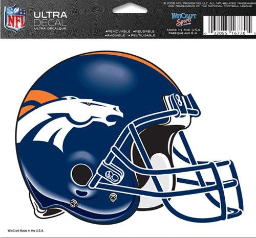 Wincraft Denver Broncos 5''x6'' Color Ultra Decal