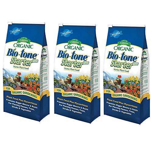 - Espoma Organic Bio-Tone Starter Plus All Natural Plant Food - 4 lb Bag BTS4, 3 Pack