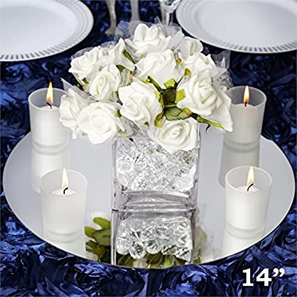 amazon com tableclothsfactory 14 round glass mirror wedding party rh amazon com wedding table centerpieces ideas cheap wedding table centerpiece ideas no flowers
