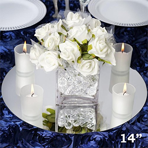 Efavormart 14' Round Glass Mirror Wedding Party Table Decorations Centerpieces - 4 PCS