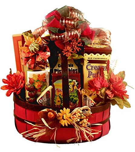 Autumn Celebration Gourmet Thanksgiving Gift Basket - Size Medium