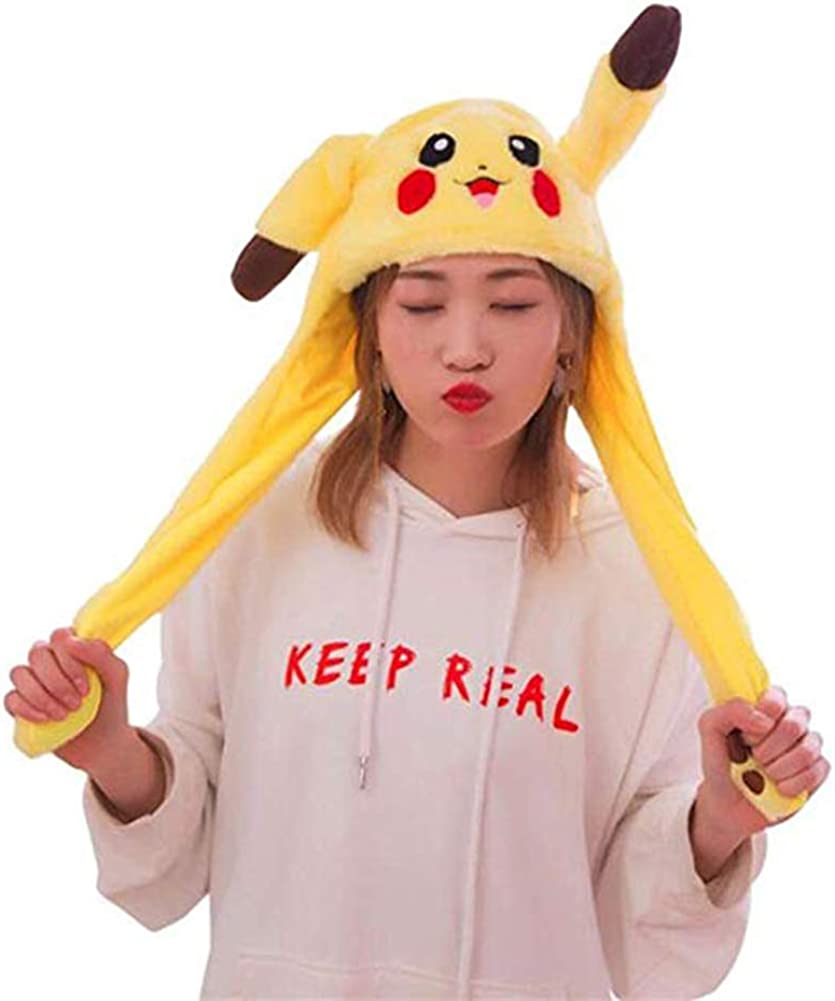 2019 Cute Fashion Hat Ear Moving Jumping Hat Lovely Plush Toy Cosplay Costumes