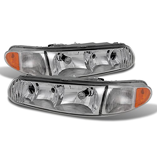 ACANII - For 1997-2005 Buick Century 97-04 Regal LS/GS Headlights Head Lights Lamps Replacement Driver + Passenger Side
