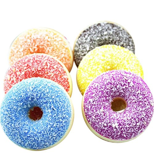 Sagton Kids Stress Relief Toys,Soft Colourful Doughnut Squishy Squeeze Scented Slow Rising Toys
