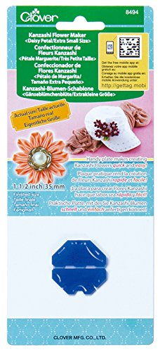 Clover 8494 Kanzashi Flower Maker Daisy Petal Quilt Pattern, X-Small Clover Needlecraft