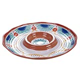 Certified International Vera Cruz Melamine Chip & Dip Server, 14''
