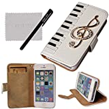 xhorizon TM Premium Hybrid Leather Flip 3D Piano Bling Crystal Case ZY for iPhone 4/4s/5/5s/6/6 Plus Samsung GALAXY S3/S4/S5/Note2/Note3/S3 Mini/S4 Mini