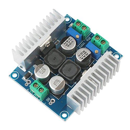 - Dual Output Adjustable Buck Converter, DROK LM2596 Dual-way Adjustable Buck Power Module 3A Voltage Step Down Stabilizer Regulator DC 5V-40V to DC 1.25V-35V DC 5V 12V 24V Power Supply Board with Heat