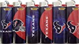 6pc Set BIC Houston Texans NFL Officially Licensed Cigarette Lighters