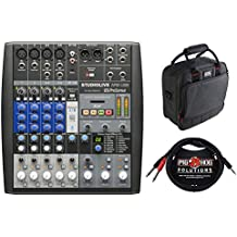 PreSonus StudioLive AR8 USB 8-Channel Hybrid Performance and Recording Mixer with G-MIXERBAG-1212 Mixer/Equipment Bag & PB-S3410 3.5 mm Stereo Breakout Cable, 10 feet Bundle