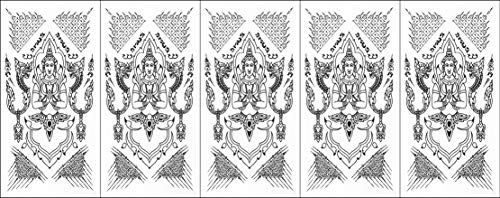 PP TATTOO 5 Sheets Angel That god Talisman Sak Yant Thai Temporary Tattoos Assorted Styles and Body Art Designs Fake Tattoos for Adults and Teens Tattoos for Arms Shoulder or Back