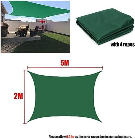 WZ Verde Oscuro 300D Cortina Impermeable Vela Cuadrada Rectangular Sombrilla Terraza Jardín Pabellón Baño Toldo Sol Yarda Que Acampa Toldo Vela Conveniente (Color : 2x5m): Amazon.es: Hogar