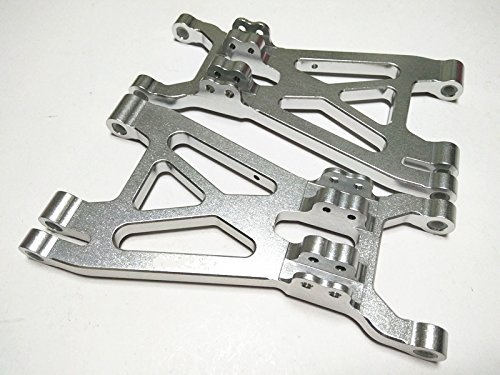 Aluminum Front or Rear Lower Arms-1PR SET Silver For HPI#85238 HPI 1/8 Savage FLUX X XL 4.6 5.9 (Lower Savage Arms)