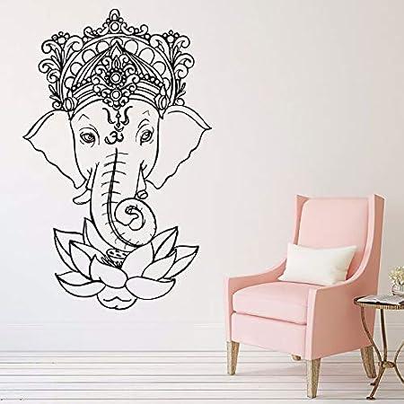 wangpdp Elefante Vinilo Tatuajes de Pared Yoga Ganesh Tribal ...