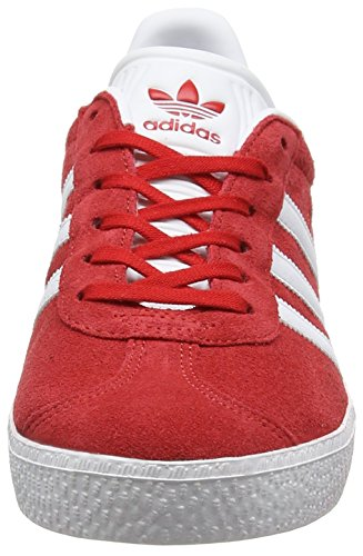 adidas Gazelle J, Zapatillas Unisex Niños Rojo (Scarlet/footwear White/gold Metallic)