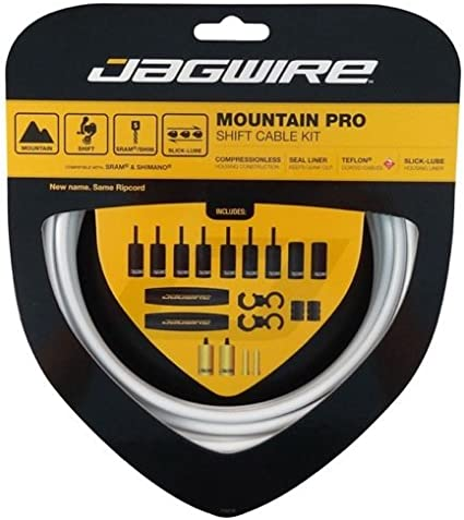 Jagwire Mountain Pro Shift Cable Kit White Shift Housing Cables