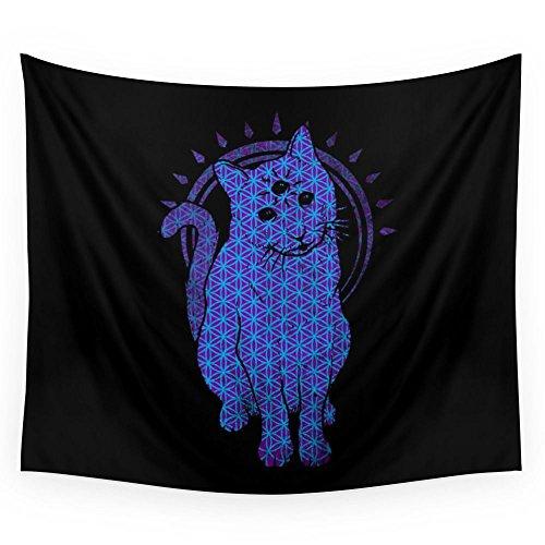 Society6 Trippy Cat: 4 Wall Tapestry Small: 51