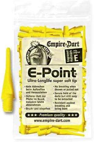 E-Point Softdart Spitzen kurz 2BA Gelb 500 Stück