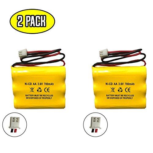 3.6v Emergency Lighting Battery - (2 pack) Unitech 6200RP LEDR-1 AA900MAH 3.6v 700mah Exit Sign Emergency Light NiCd Battery Replacement Lowes 253799 OSA230