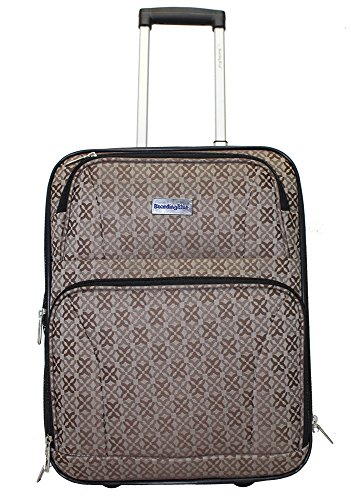 Boardingblue New American Airlines Rolling Personal Item Luggage Under Seat (brown) ()