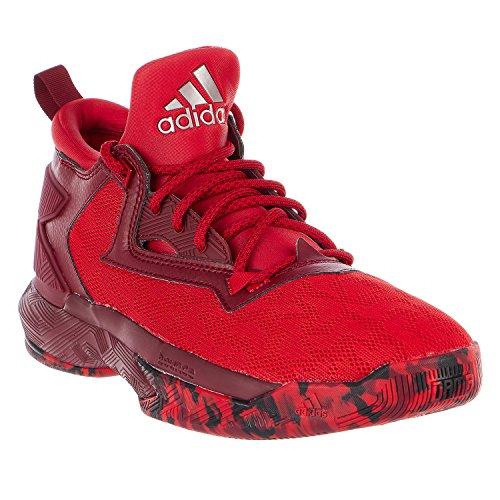 Scarpa Da Basket Adidas D Lillard 2 Mens Scarlatta / Bordeaux / Bianca