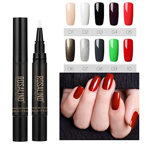 Nail Art Gel Pens, Alonea Color Gel Nail Polish Nail Art Nail Gel Polish UV LED Gel Polish Nail Polish Pen