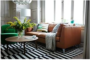 Ikea Stockholm Tapis Flatwoven Noir A Rayures Noir Blanc